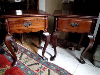 Pair 1920 ' S Sao Paulo Brazil Betta & Cia Factory Chippendale Bedside Tables photo