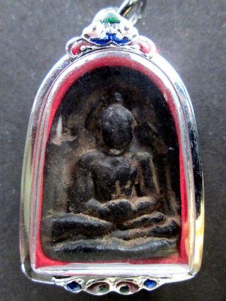 Thai Amulet Phra Somgor Black Kru Baan Sesthi Kamphaengphet Province photo