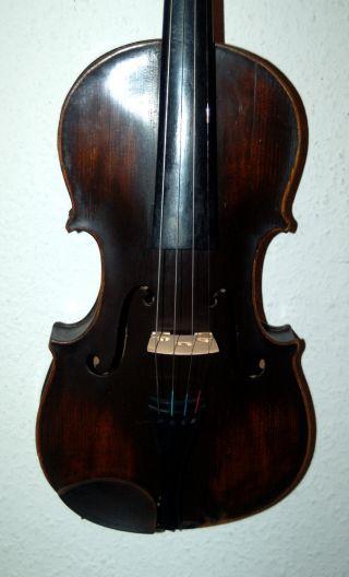 Fine Antique Geman Fullsize 4/4 Violin - Label Antonius Stradiuarius - 1900 ' S photo