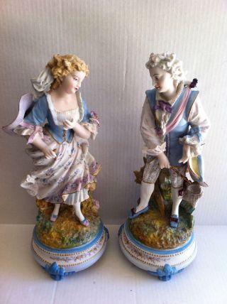 Antique Porcelain Figurine France photo