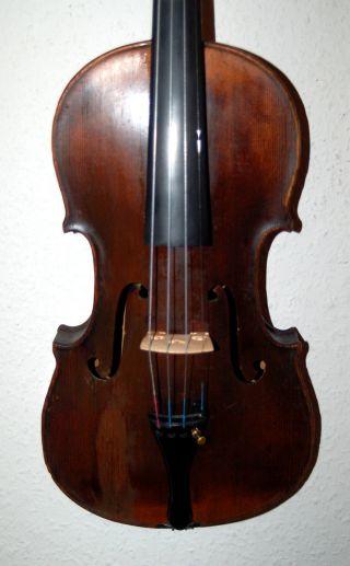 Antique Handmade German 4/4 Fullsize Violin - - From 1905 photo
