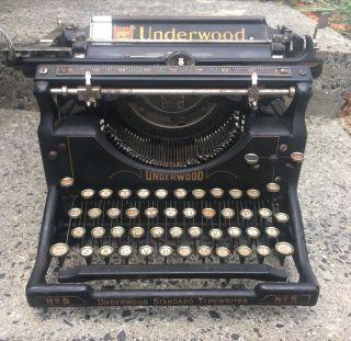 Antique Typewriter Underwood No.  5 1926 Glass Keys photo