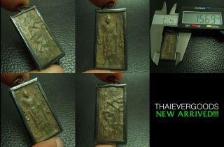 Ancient Lp Suk Standing Wat Makhamtao Thai Amulet photo