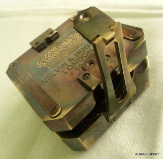 Antique Brass Geological Brunton Compass Vintage Nautical Victorian Travel Gift photo