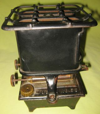 Antique 1890s Dual Wick Kerosene Heater / Stove By Cleveland Fdy Co Model 00 photo