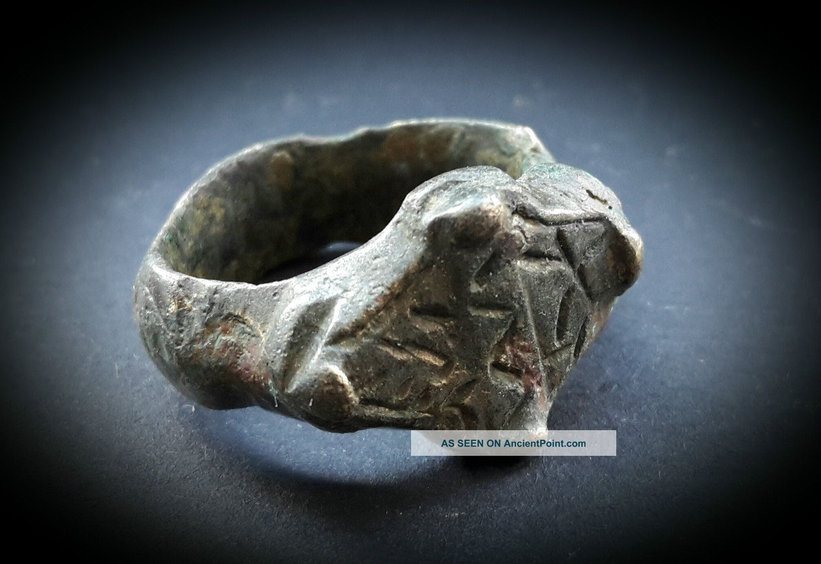 Ancient Heavy Near Eastern Gold Bronze Ring 1st Bc To 2nd Century A.  D Near Eastern photo