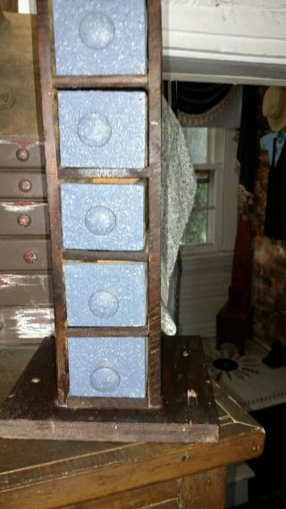 Antique General Store Display Small Drawer Cabinet photo