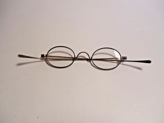 Antique Civel War Eyeglasses Long Side Arms About 2 X Reading Glasses photo
