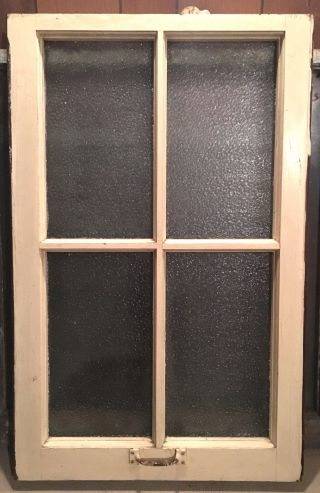 Vintage Wood Window Antique Architectural Salvage Yellow 32