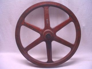 Vtg Wooden Gear Pulley Wheel Foundry Pattern Industrial Factory Mold Steam Punk photo