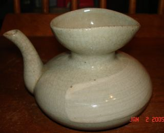 Small Antique Japanese Celadon Porcelain Teapot photo
