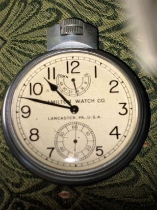 Hamilton Model 22 Marine Chronometer Deck/torpedo Watch Running Nr photo
