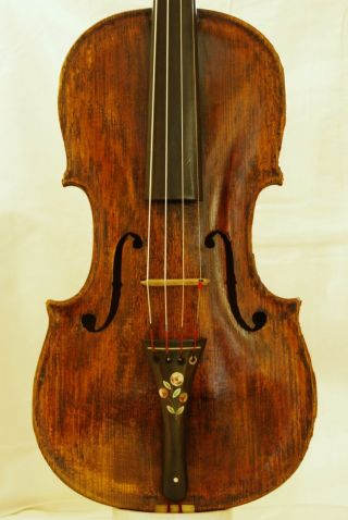 Antique Italian Labelled Violin Francesco Bresa Milano 1713 Grafted Scroll photo