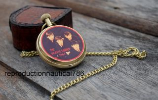 Maritime Beatle Finder 1964 Marine Solid Brass Pocket Watch Collectible photo