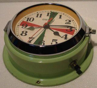 Seiko Marine Radio - Room Slave Clock - Mc 147 - Japan - Ship ' S 100 (c) photo