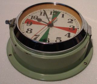 Seiko Marine Radio - Room Slave Clock - Mc 137 - Japan - Ship ' S 100 (a) photo
