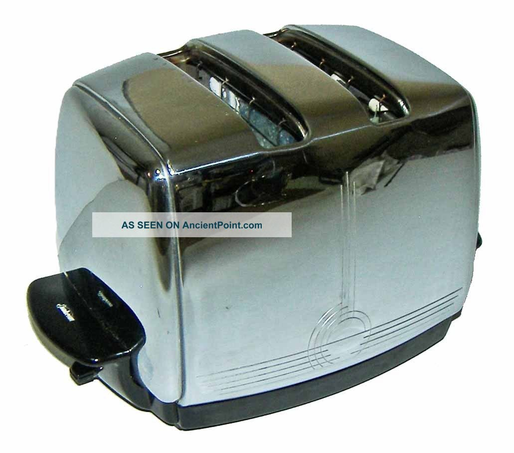 【nice】vintage 50s Sunbeam T - 20c Automatic Radiant Control 2 - Slot Chrome Toaster Toasters photo