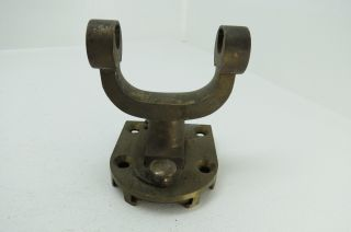 Rare Bronze Taffrail Log Mount Yoke Brass Boat Ship Sailboat Sail Boat (1446) photo
