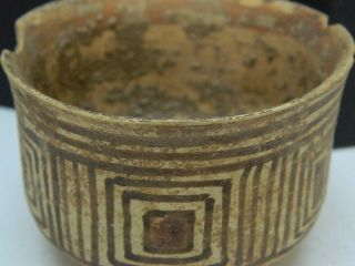 Ancient Teracotta Painted Pot Indus Valley 2500 Bc Pt15299 photo