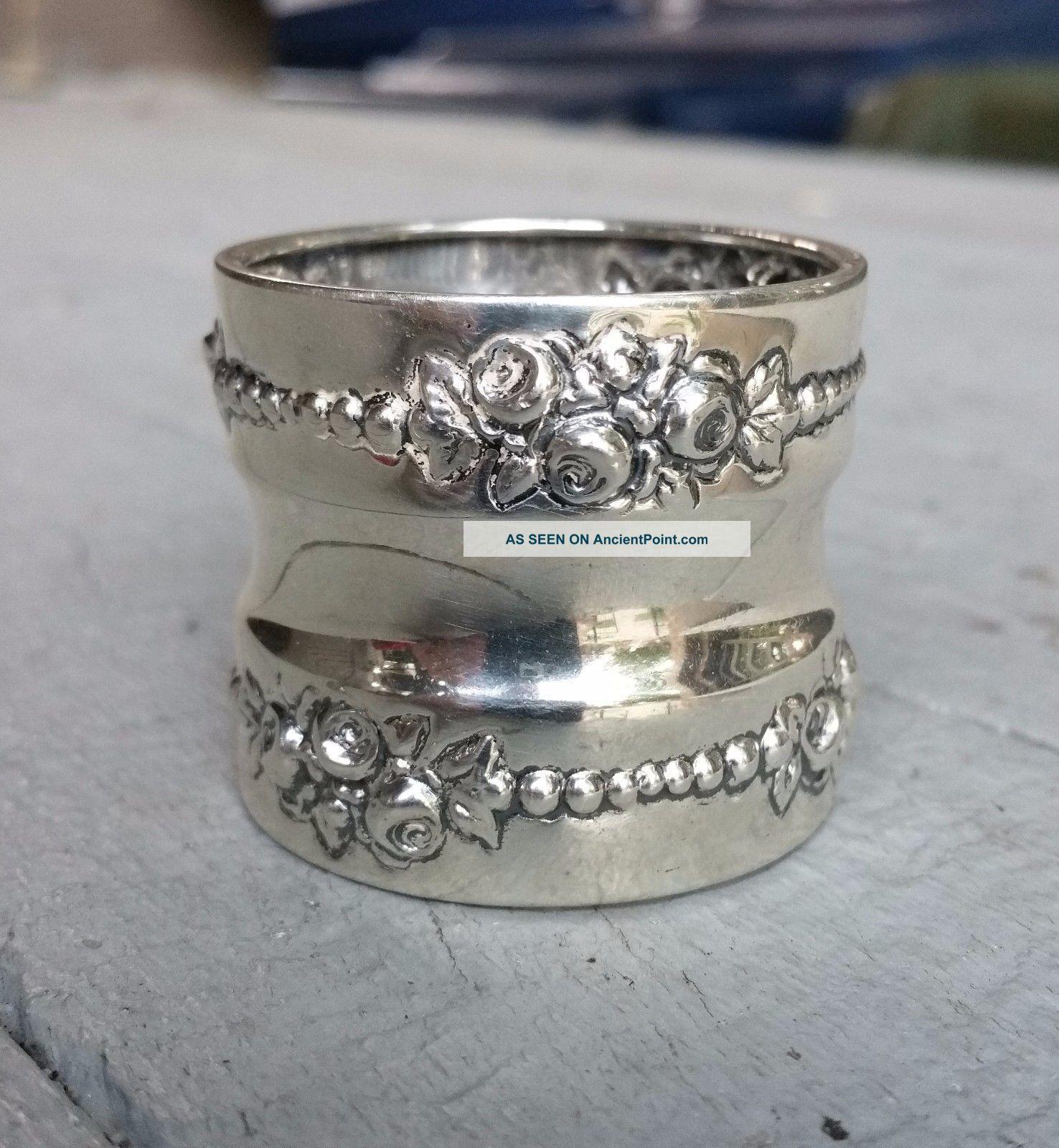 Lancaster By Gorham Sterling Silver Napkin Ring No Monogram Napkin Rings & Clips photo