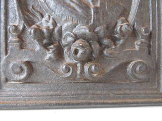 Vintage French Cast Iron Stove Plate - Dietrich Niederbron France - 16x22 Cm photo
