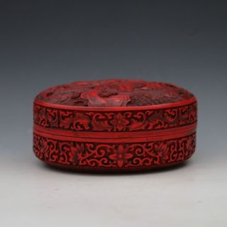 Oriental Vintage Delicate Lacquer Hand - Carved Landscape Box Csyb215 photo