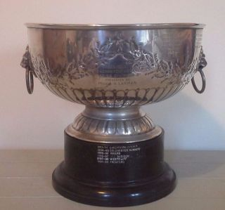 Vintage Very Large Silver Trophy,  Silver,  Trophy,  Sporting Trophy,  Trophies photo