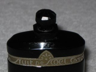 Vintage Caron Nuit De Noel Perfume Baccarat Style Bottle/box 1 Oz Open 2/3 Full photo
