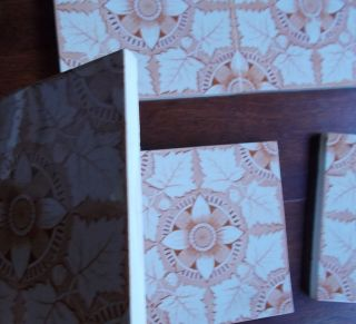 Six Old Washstand Tiles, . photo