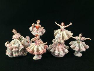 Antique Dresden Porcelain.  : Group Of 6 Ballerina ' S 1945 photo