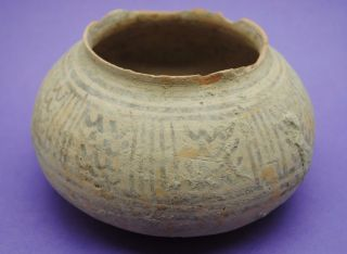 Ancient Indus Valley Decorated Vessel Bronze Age Period 2200 Bc photo