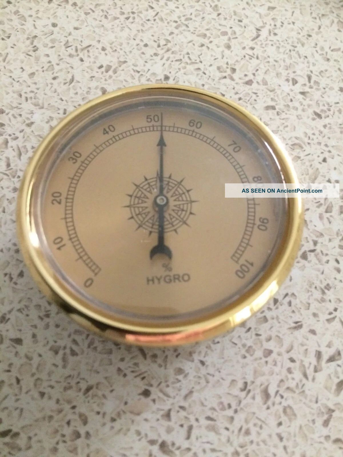 Quality Precision Aneroid 60mm Hydrometer In Gold Ship Equipment photo