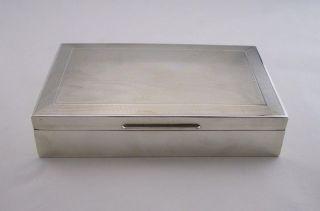 Vintage Silver Cigarette Box - London 1964 - Cohen & Charles photo
