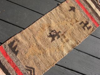 Navajo Native American Indian Rug Antique Late Transitional Weaving - Old/worn photo