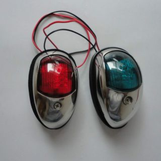 Red And Green Stainless Steel Led The Navigation Lights/lamp Port/free photo