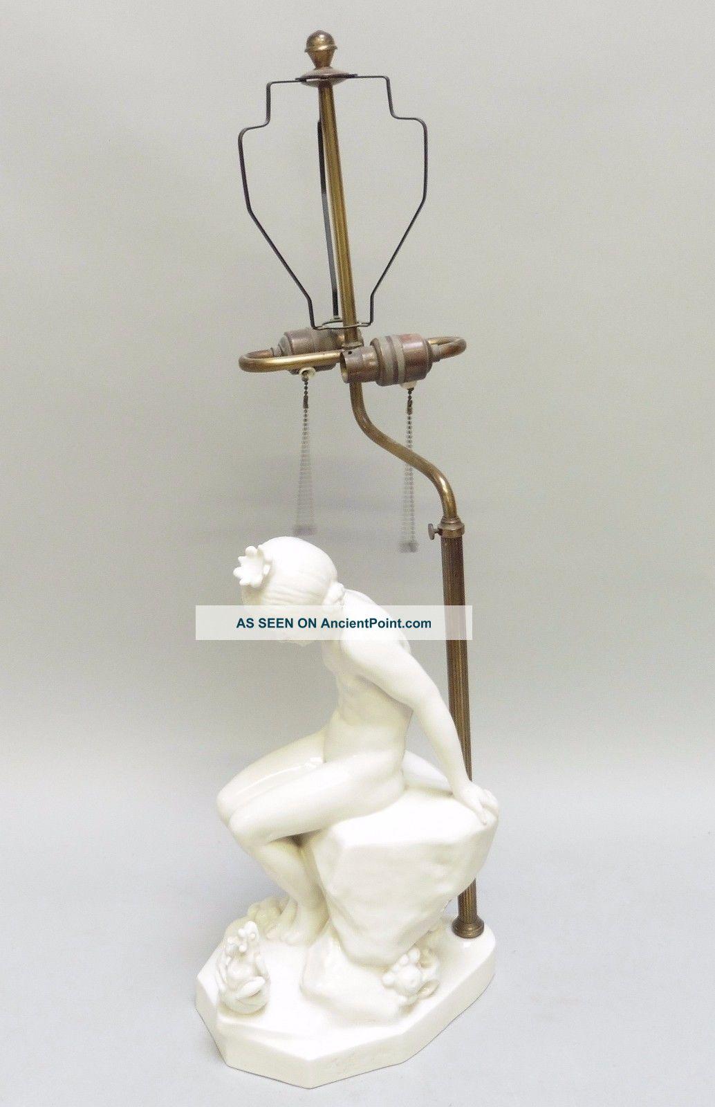 Bernhard Butzke Jugendstil Ceramic Lamp