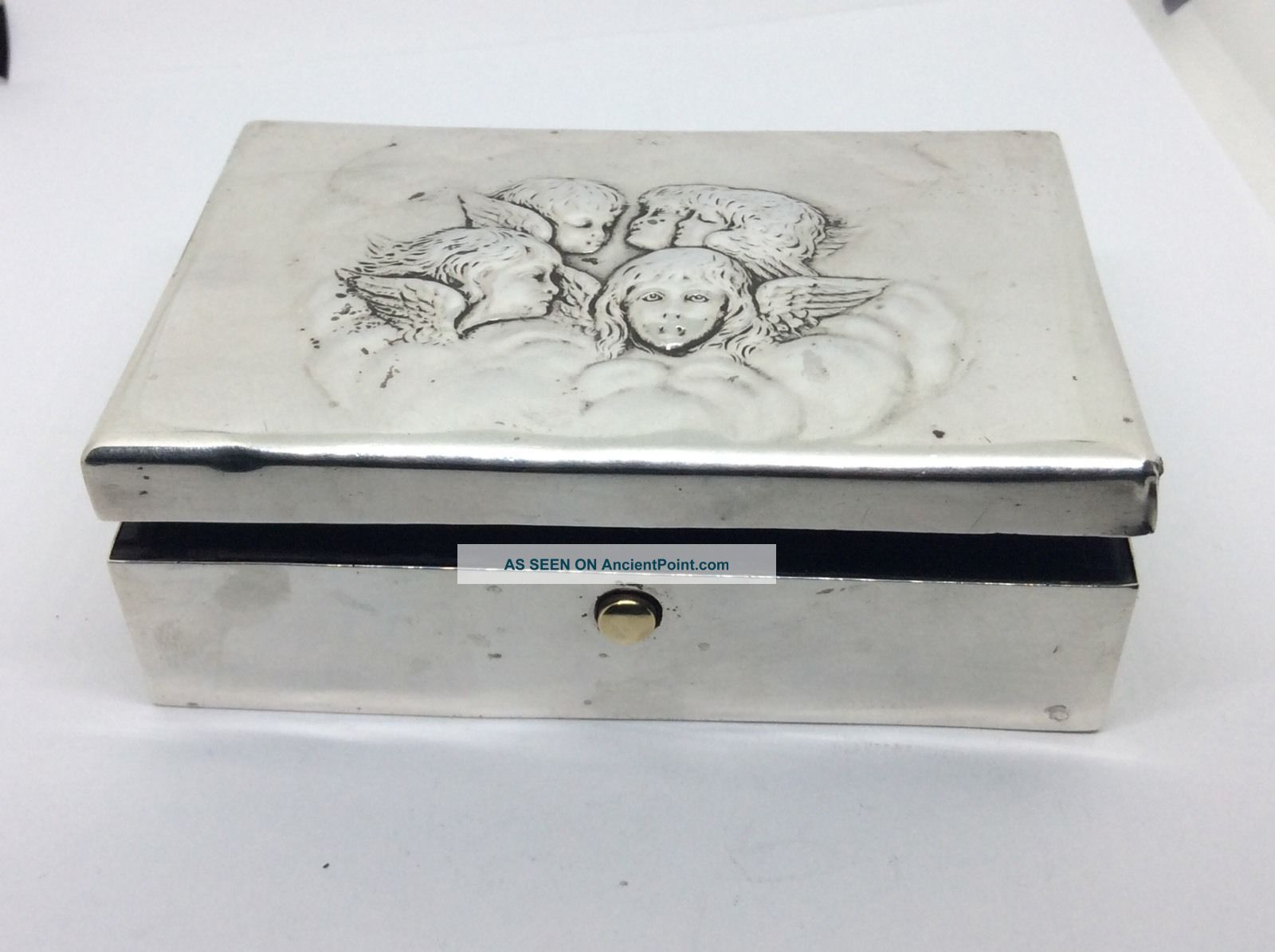 1904 William Comyns Solid Silver Reynolds Angles Jewellery Box A/f Boxes photo