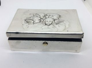 1904 William Comyns Solid Silver Reynolds Angles Jewellery Box A/f photo