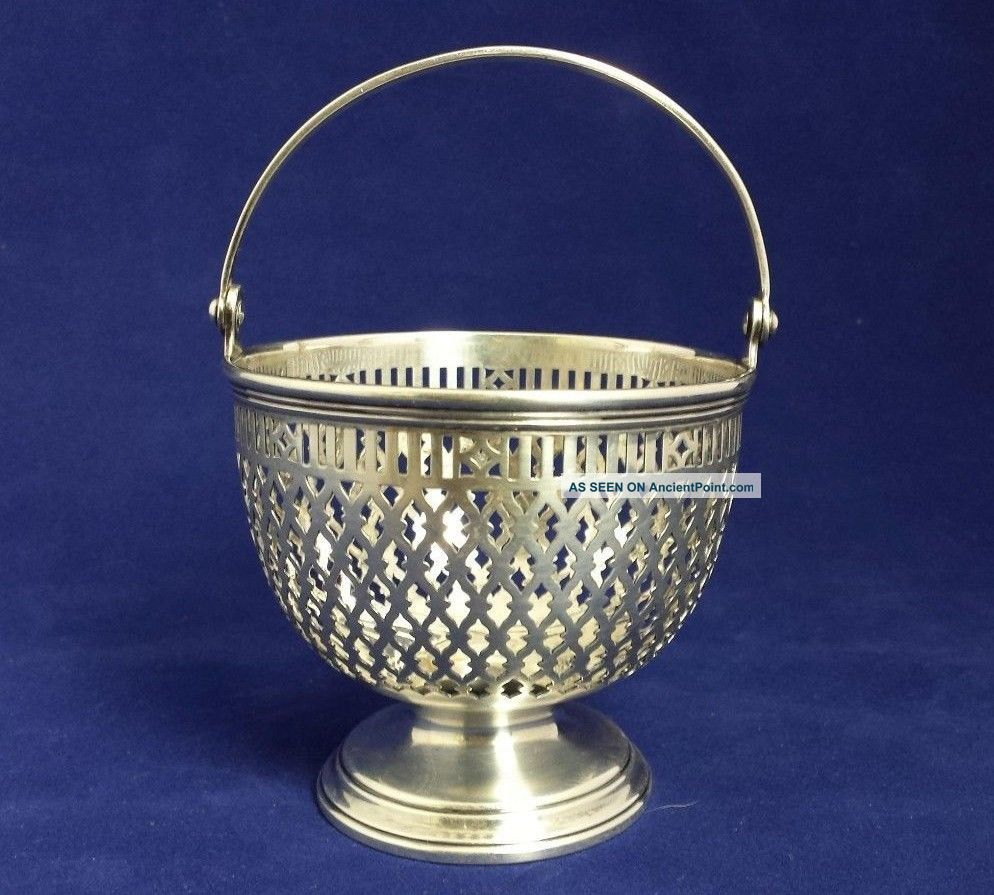 Rare Tiffany & Co.  Georgian - Style Sterling Silver Basket,  4 Oz/120 G,  17021 Bowls photo
