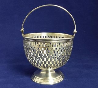 Rare Tiffany & Co.  Georgian - Style Sterling Silver Basket,  4 Oz/120 G,  17021 photo