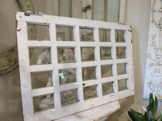 The Best Old Vintage Architectural Window 20 Panes White Vertical Or Horizontal photo