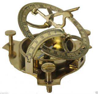 Sundial Compass Vintage Brass Nautical 3