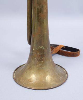 Antique C1900 French Pelisson Guinot & Blanchon Brass Bugle Maison 1812 Couturie photo