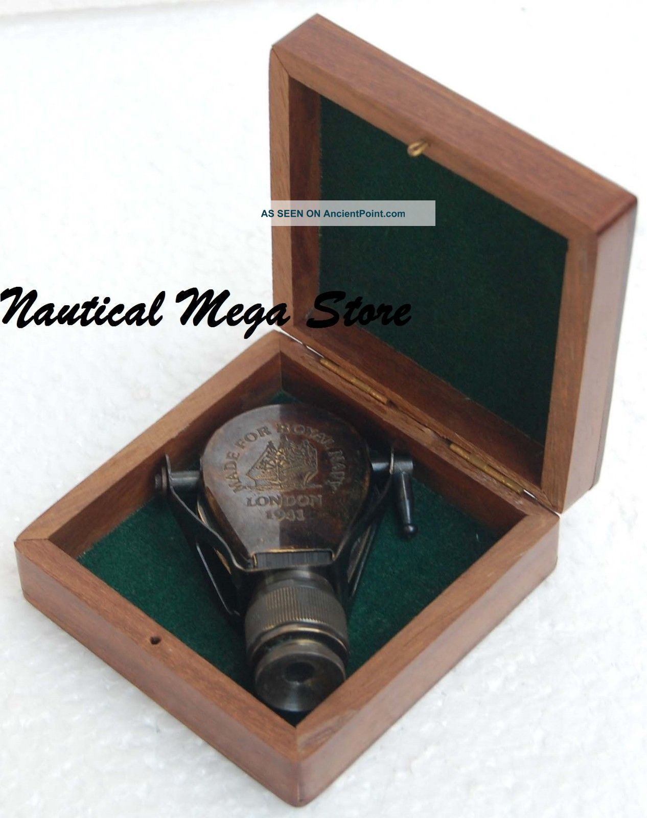 Antique Brass Monocular Binocular W/ Case Collectible Marin Decor Christmas Gift Telescopes photo