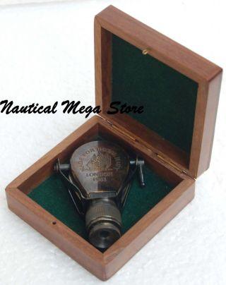 Antique Brass Monocular Binocular W/ Case Collectible Marin Decor Christmas Gift photo