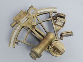 Estate Found Vintage 1950s/60s Henry Barrow & Co London Brass Marine Sextant photo