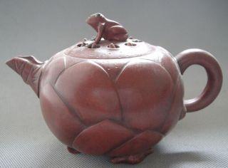 Old Pottery Good Craftsmanship Chinese Yixing Zisha Teapot 366g photo