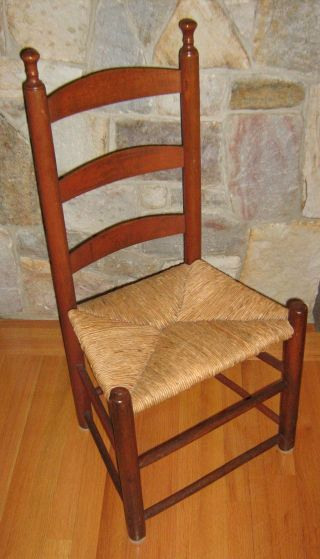 Local Pick Up Only - Antique Ladder Back Chair - Local Pick Up Only photo