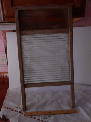 Antique Pacific Queen Glass Washboard Circa Wwii,  By Howard Mfg In Kent,  Wash. photo