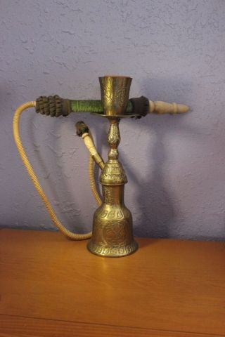 Old Copper Brass 14  Hookah Pot Complete photo